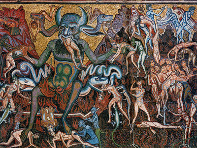 Medieval Art Hell Hell  and damnation are
